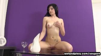 Wet white leggings