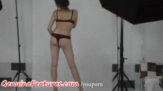 Real czech student - sexy backstage