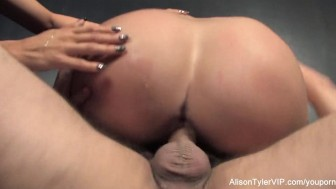 3-way gonzo energetic sex with Alison Tyler