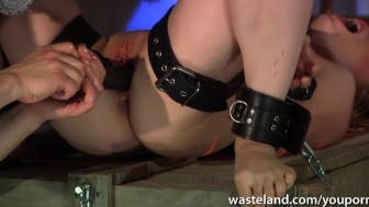 Blonde sub fisted by her master