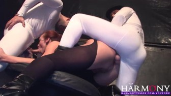 HARMONY VISION Busty Keira Farrell is an Aerobics Anal Creampie Slut