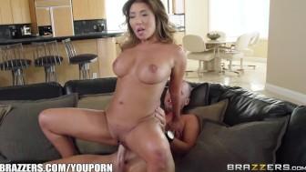 Sexy Asian Milf Akira Lane needs some cheering up - Brazzers