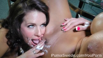 Sweet Pussy Pie!! Busty Puma Swede With MILF Veronica Avluv!