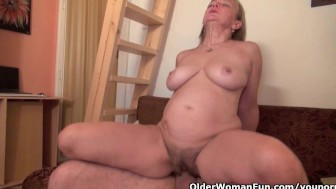 Spill your spunk on grandma's old pussy