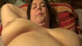 Tits bouncing while dude ramming her missionary