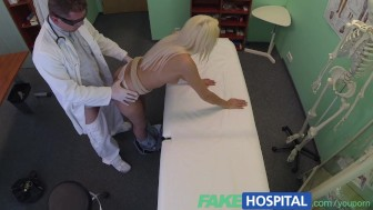 FakeHospital Slim tasty blonde spoils doctors cock to get treatment at the right price
