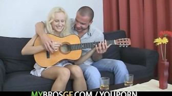 Czech blonde is lured into sex with BF's bro