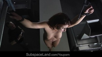 Bellina whipped and scared in kinky place