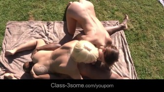 Nataly and Nela playing nasty with black cock