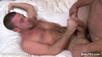 Nasty gay gets banged and jizzed
