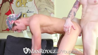 HD ManRoyale - Cute guy jerking off gets fucked by his friend