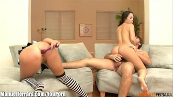 ManuelFerrara Rough ANAL Threesome!