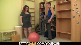 Big booty faty fucks fitness instructor