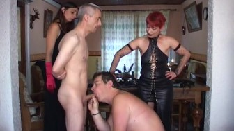 Submissive slave suck guys cock - Java Productions