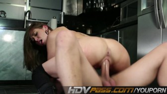 HDVPass Riley Reid in Hardcore Kitchen Sex