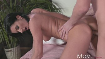 MOM Horny Milf sucks and fucks hard cock of shy young guy