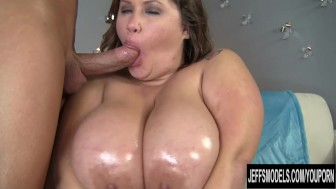 Giant breasted BBW Kacey Parker is filled with dick