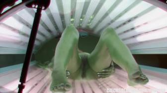 Amazing Hot Teen in Solarium