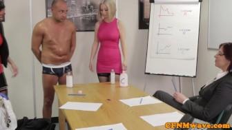 Office femdom affair with Chantelle Fox