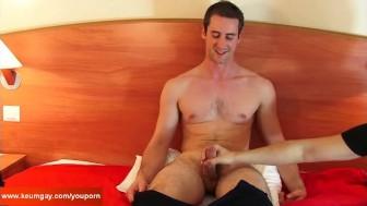Room service guy (hetero) made a porn for money!