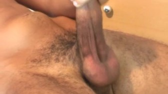 Ilman's cock gets wanked by us in spite of him !