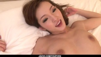 Mei Haruka sucks cock before getting roughly fucked