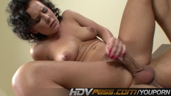 HDVPass Luscious Babe Katie St Ives Seduces Lucky Guy and Fucks His Brains Out