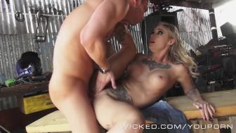 Wicked - Inked Angel Kleio Valentien takes big cock