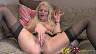 FakeAgentUK Hard office fucking for sexy blonde Liverpool minx