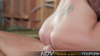 HDVPass Fresh faced Christina shows of her sex techniques