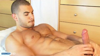 Farid's huge cock gets wanked by a guy in spite of him !