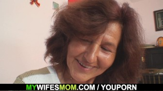 Horny girlfriends mother loves sucking and riding