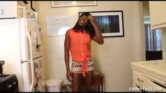 Lucky Guy Visits The Ebony Babe Of His Interest