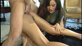Slaves have anal sex for Mistress' delight
