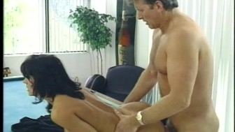 Ball-slapping near the pool table - Porn Star Legends