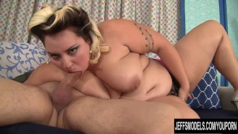 Cute BBW Jade Rose fucks her young boyfriend