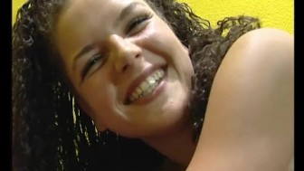 Cute brunette babe strips - Julia Reaves