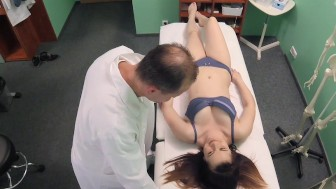 FakeHospital Petite Russian takes double cumshot in private hospital