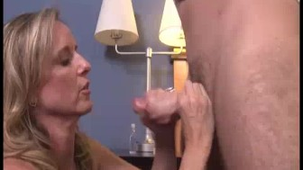 Step-mom's Early Home, Caught Young Guy Beating His Dick