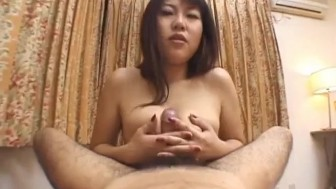 Rei Himekawa amateur girl pleases with POV oral