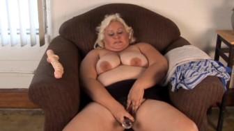 Cute chubby blonde MILF has a soaking wet pussy