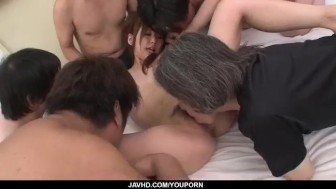 Ravishing gangbang with sleazy Miku Airi