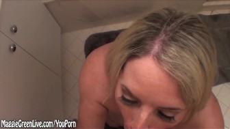 Maggie Green Gives Amazing Sloppy BJ Huge Facial!