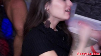 Real amateur cocksucking at party