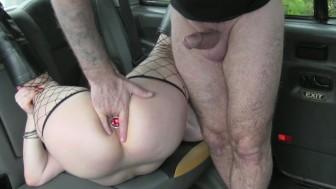 FakeTaxi kinky customer underwear fetish