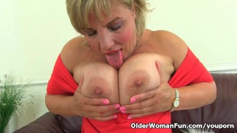 British milf Danielle will let you feast your eyes