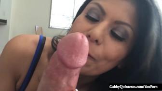 MexiMILF Gabby Quinteros Gives A Hard Cock POV BJ