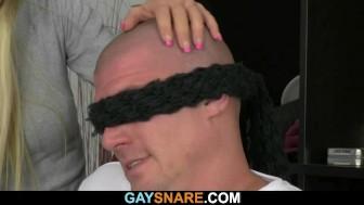 Hetero hunk is lured into gay sex