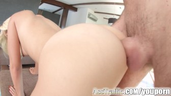 Asstraffic blonde loves doggystyle anal fucking