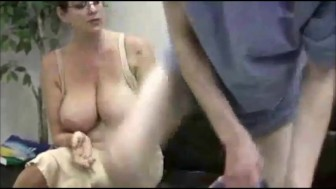 NastyPlace.org - Mother Giving Handjob To Her God Boy